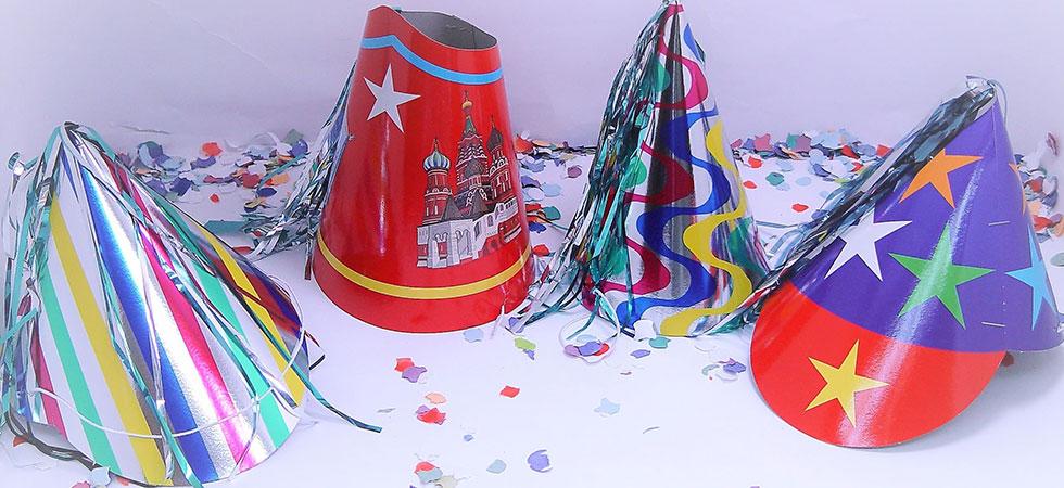 Gorros Fiesta Cartón